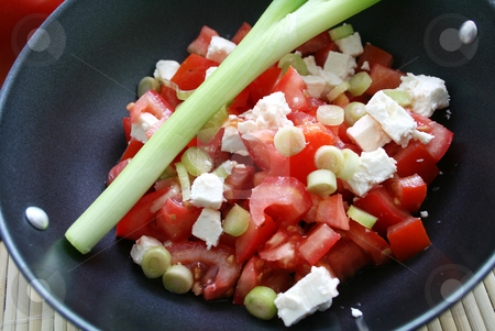 Salad of tomatoes stock photo, Salad of tomatoes by Yvonne Bogdanski