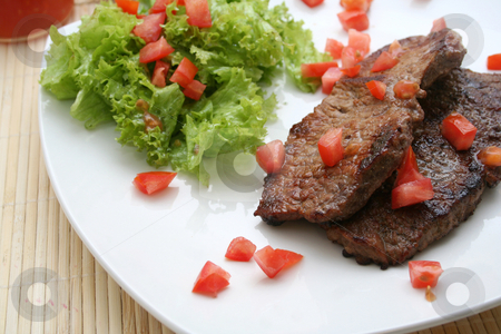 Roastbeef stock photo, Fresh meal by Yvonne Bogdanski