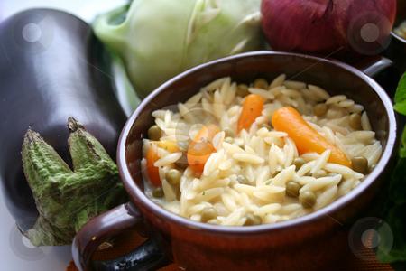 Rice noodles stock photo, Rice noodles by Yvonne Bogdanski