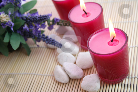 Candles stock photo,  by Yvonne Bogdanski