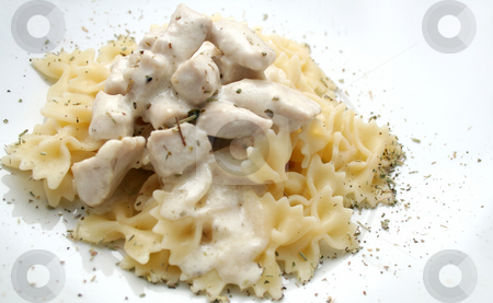 Pasta and meat stock photo, Pasta and meat by Yvonne Bogdanski
