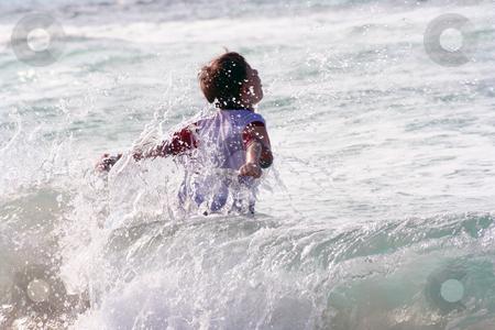 On the beach stock photo, On the beach by Yvonne Bogdanski