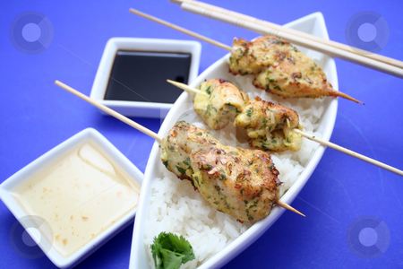 Satay stock photo,  by Yvonne Bogdanski