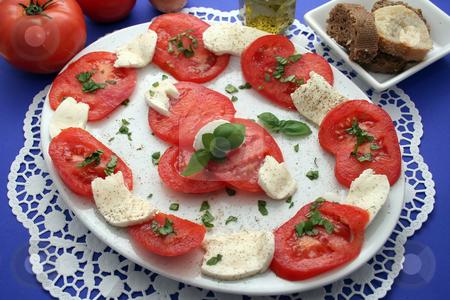 Tomatoes and Morzarella stock photo,  by Yvonne Bogdanski