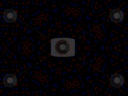 Stars - Background Pattern stock photo, Stars - Background Pattern, thin neon lines in red star shapes as well as a few accents in blue. Must see larger than thumbnail to see the colors. Perfect for American themes.. possibly Fourth of July / Independence day or Memorial day. by Dazz Lee Photography