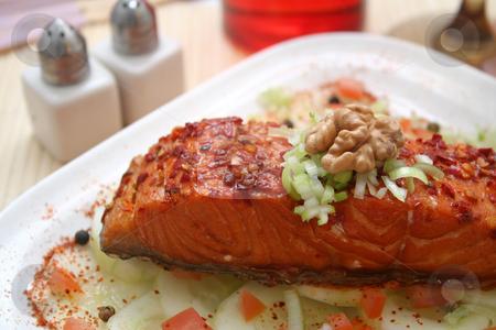 Salmon snack stock photo,  by Yvonne Bogdanski