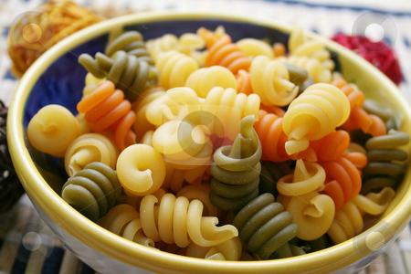 Pasta tricolore stock photo,  by Yvonne Bogdanski