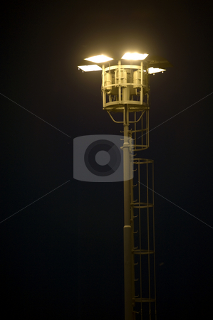 Industrial lighting stock photo, A high-powered industrial lamppost by Corepics VOF