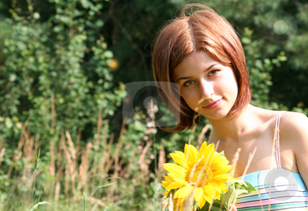 Young woman stock photo, Frauenportrait by Yvonne Bogdanski