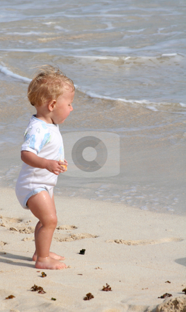 On the beach stock photo, Babyportrait by Yvonne Bogdanski
