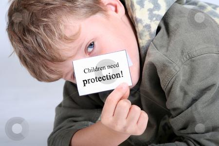 Children need protection stock photo, Studio by Yvonne Bogdanski