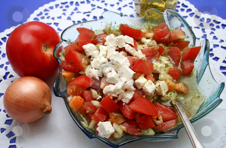 Salad with cheese stock photo,  by Yvonne Bogdanski