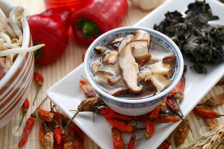 Asian mushrooms stock photo,  by Yvonne Bogdanski