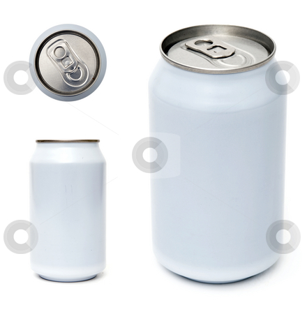 Beverage can template stock photo, Top, side and perspective view of beverage can by Corepics VOF