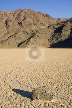 Race Track Playa stock photo, The phenonemon of the moving rocks at the Race Track Playa, Death Valley, California by Corepics VOF