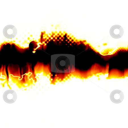 Fiery Torn Layout stock photo, A fiery background with a torn center section.  Plenty of copyspace for your text. by Todd Arena
