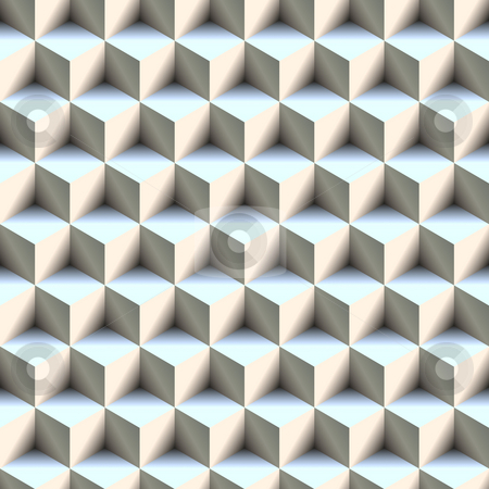 Seamless 3D Boxes Pattern stock photo, 3d boxes texture that tiles seamlessly as a pattern in any direction. by Todd Arena