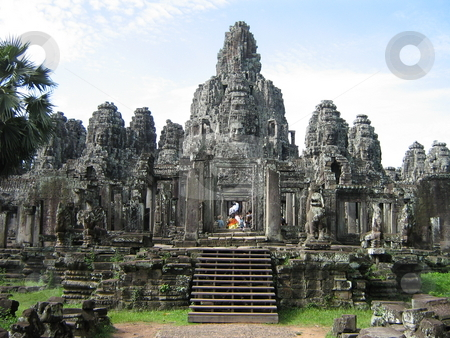 Angkor stock photo, Temple in Angkor, Cambodia by Jose .