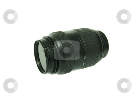 Lens 01 stock photo, Side view of a telephoto lens by Jose .