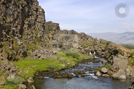 Thingvellir stock photo, The Oxara River in the Thingvellir national park by Corepics VOF