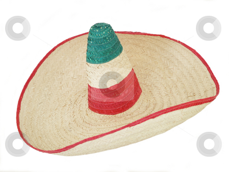 Sombrero 01  stock photo, Mexican sombrero hat over white background by Jose .