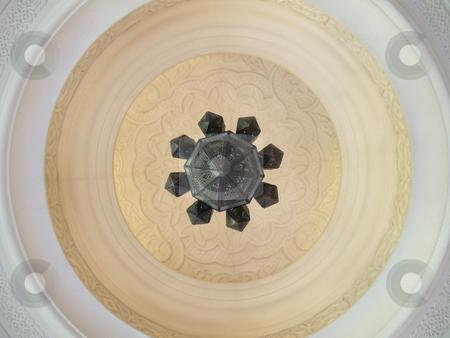 Chandelier 01 stock photo, Lower view of an arabis stye chandelier by Jose .