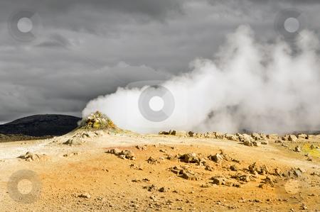 Bjarnaflagsstod Fumarole stock photo, A volcanic Fumarole in Bjarnaflagsstod, Iceland by Corepics VOF