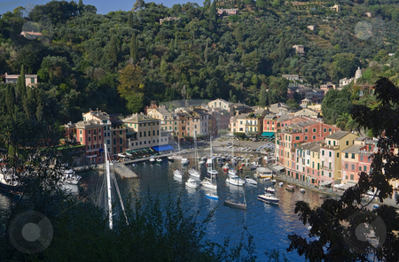 Portofino 2 stock photo, Panorama of Portofino, famous small town in liguria near Genoa, Italy by ANTONIO SCARPI