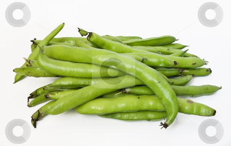 Fave stock photo, A group of broad beans on white isolated background by ANTONIO SCARPI