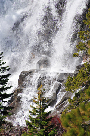 Forest Waterfall stock photo, Eagle falls located at emerald bay on the west side of Lake Tahoe by Lynn Bendickson