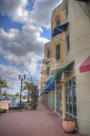 Main Street Shops stock photo, Main Street shops in small Florida town. by Steve Carroll