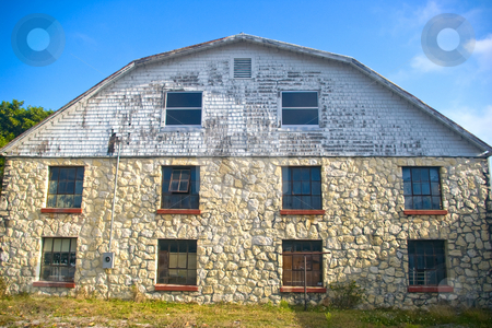 Old Stone Barn stock photo, Old Stone Barn by Steve Carroll