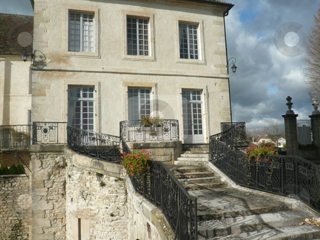 French mansion house stock photo, Old authentic french home by Fabrice Teboul