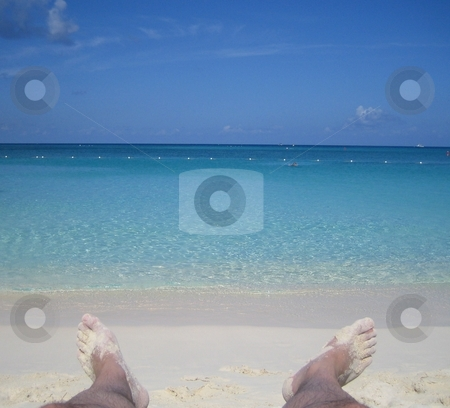 Beach stock photo, Beach dream holiday photos, relaxed setting by Fabrice Teboul