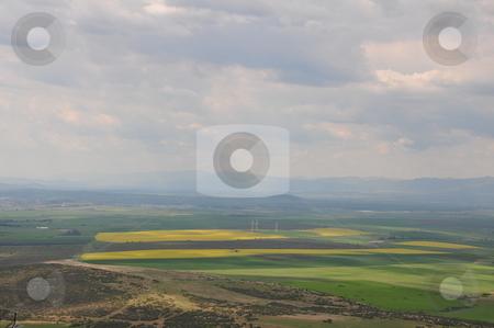 Landscape of  thrace valley  stock photo, The thrace valley, Bulgaria from bird`s eye by Zheko Zhekov