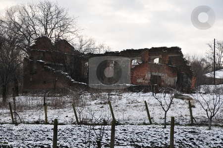 Orthodox Church has lain in ruin stock photo,  by Zheko Zhekov
