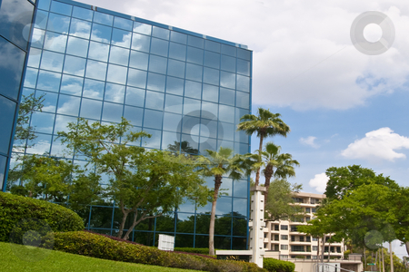 Office Building stock photo, Mirrored office building in Florida by Steve Carroll