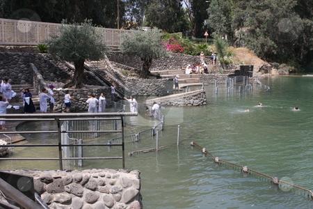 Baptism in the River jordan stock photo,  by Chris Budd