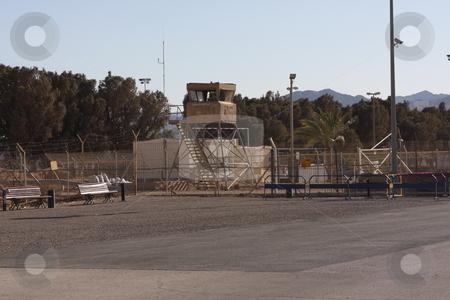 Israel Jordan Border Crossing stock photo, The border crossing between Israel and Jordan.  Known as the Wadi Araba terminal or the Yitzhak Rabin terminal by Chris Budd
