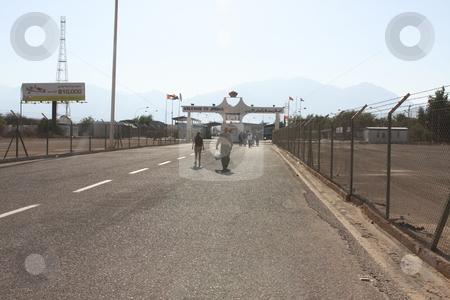 Israel Jordan border crossing stock photo, Entering Jordan at the Wadi Araba border crossing by Chris Budd