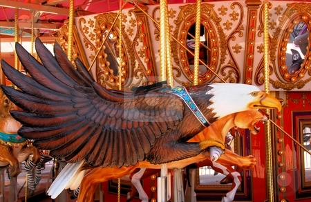 Carousel stock photo, Unique Carousel  animals by Laura Smith