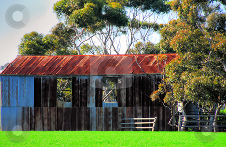 Old Farm Buildings stock photo, Abandoned farm Buildings by Laura Smith