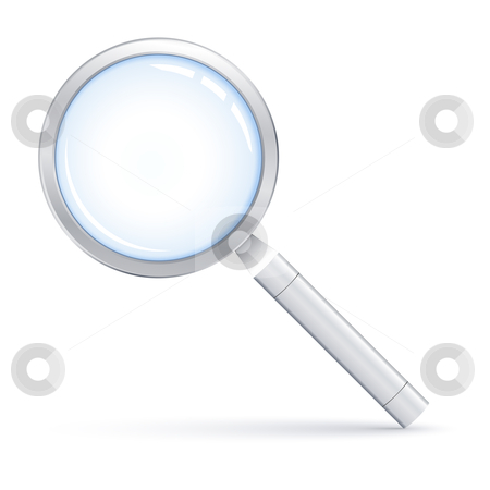 Magnifying glass stock vector clipart, Vector illustration of Magnifying glass by Laurent Renault
