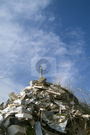 Garbage Dump stock photo, Garbage Dump against blue sky by Noam Armonn