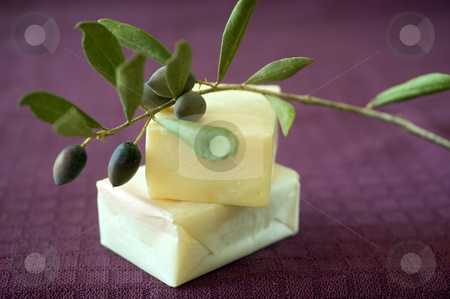 Olive soap stock photo, Hand made olive oil soap by Noam Armonn