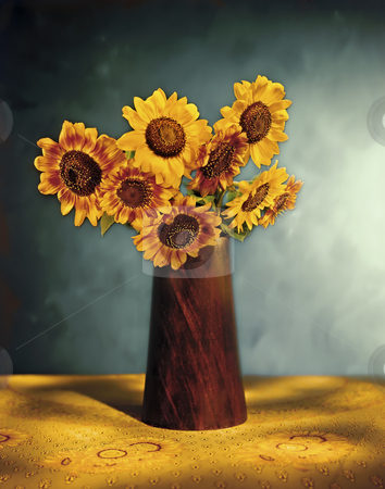 picturesque Sunflower Bouquet stock photo, Picturesque Sunflower Bouquet by Noam Armonn