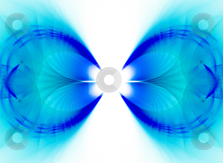 Blue Fractal Vortex stock photo, A unique fractal background texture that will enhance any design. by Todd Arena