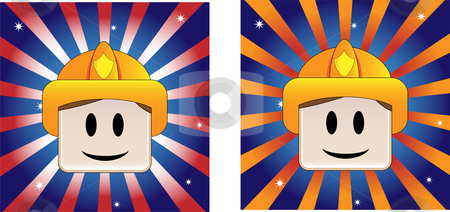 Firefighter Background stock vector clipart, Firefighter Background with Stars and Stripe in american flag colors by AUGUSTO CABRAL