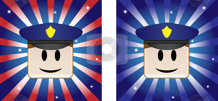 Policeman Background stock vector clipart, Policeman Background with Stars and Stripe in american flag colors by Augusto Cabral Graphiste Rennes