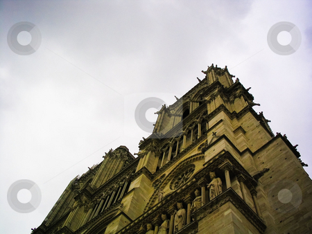 Notre Dame stock photo, Looking up at Notre Dame cathedral by Jaime Pharr